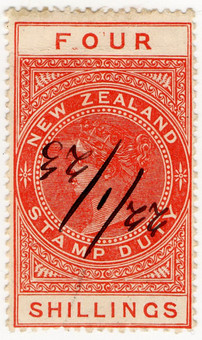 (217) 4/- Red (1880)
