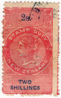 (95) 2/- Red & Blue (1867)