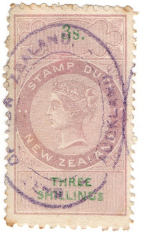(187) 3/- Lilac & Green (1870)