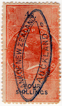 (100) 4/- Red & Blue (1867)