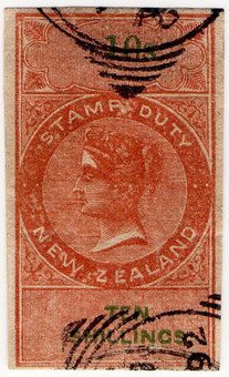 (52) 10/- Red-Brown & Green (1866)