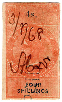 (28) 4/- Red & Blue (1866)