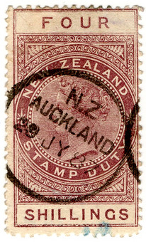 (217) 4/- Red-Brown (1880)